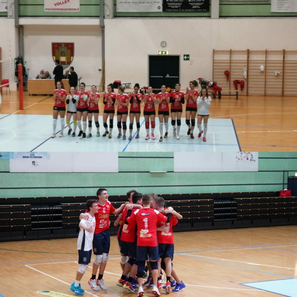 Ultime partite del 2019 per le Prime Squadre di Insieme per Pordenone volley